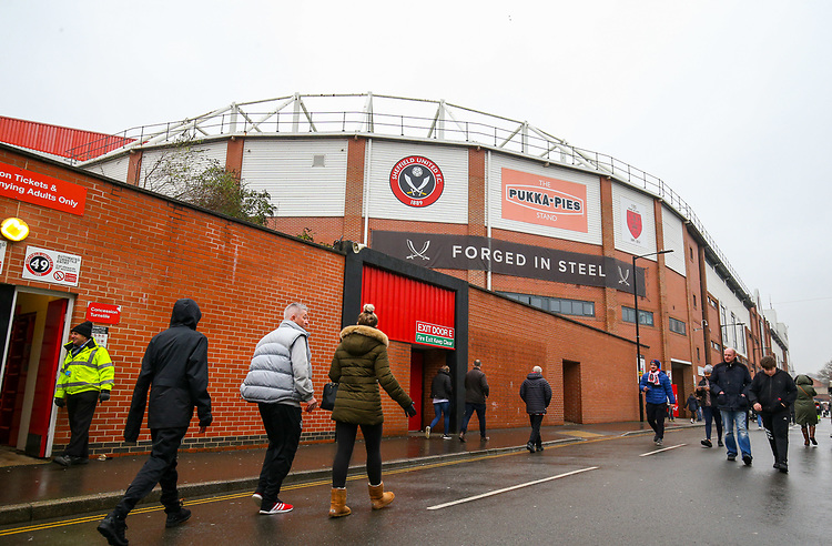 A general view of Bramall Lane, home of Sheffield United FC<br /> <br /> Photographer Alex Dodd/CameraSport<br /> <br /> The EFL Sky Bet Championship - Sheffield United v Leeds United - Saturday 1st December 2018 - Bramall Lane - Sheffield<br /> <br /> World Copyright © 2018 CameraSport. All rights reserved. 43 Linden Ave. Countesthorpe. Leicester. England. LE8 5PG - Tel: +44 (0) 116 277 4147 - admin@camerasport.com - www.camerasport.com