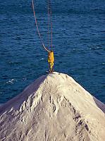 Large pile of sea salt, Livorno, Italy