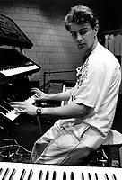 Charlot Barbeau au rÈpÈtitions de Repetitions de TE SOUVIENS TU FREDERIC ?  en 1985.<br /> <br /> <br /> PHOTO :Denis Alix -  Agence Quebec Presse