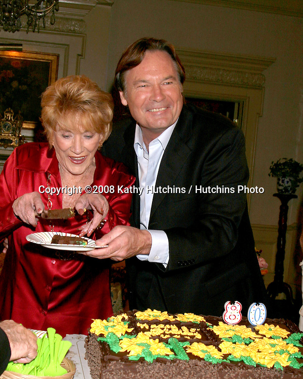 Jeanne Cooper & Beau Kayser   on the set of THe Young & The Restless  celebrating  Jeanne Cooper's 80th Birthday in Los Angeles, CA on.October 24, 2008.©2008 Kathy Hutchins / Hutchins Photo...                .