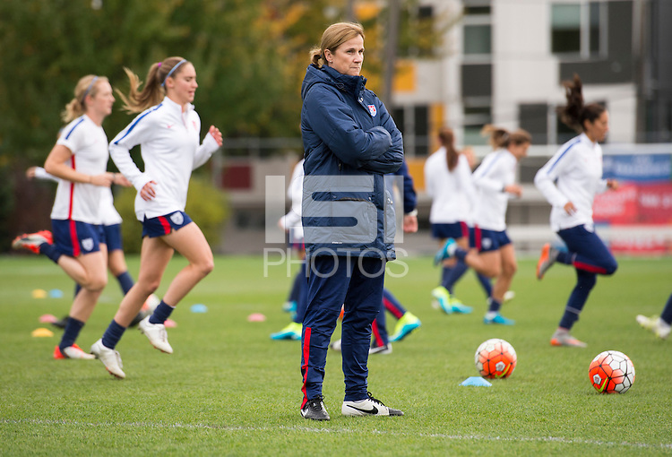 Seattle, WA - October 19, 2015:  The USWNT trained in preparation for their Victory Tour game against Brazil at CenturyLink Field.