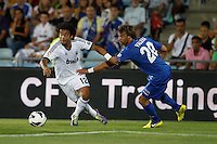 26.08.2012 SPAIN -  La Liga 12/13 Matchday 2th  match played between Getafe C.F. vs Real Madrid CF (0-0) at Alfonso Perez stadium. The picture show Marcelo Vieira (Brazilian defender of Real Madrid)