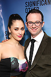 """Lily Robinson and Luke Smith attend the Broadway Opening Night performance after party for """"Significant Other"""" at the Redeye Grill on March 2, 2017 in New York City."""