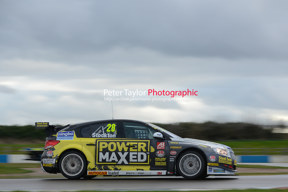 #28 Chris Stockton (GBR) - Power Maxed Racing Chevrolet Cruze. 2014 BTCC Media Day. Donington Park, Derby, United Kingdom. 18th March 2014.