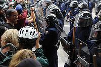 Toronto G 20 Protest Police Line Police Presence G 20 Protest Front Line, RCMP, Obama Mask