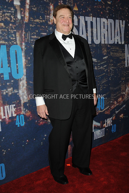 WWW.ACEPIXS.COM<br /> February 15, 2015 New York City<br /> <br /> John Goodman walks the red carpet at the SNL 40th Anniversary Special at 30 Rockefeller Plaza on February 15, 2015 in New York City.<br /> <br /> Please byline: Kristin Callahan/AcePictures<br /> <br /> ACEPIXS.COM<br /> <br /> Tel: (646) 769 0430<br /> e-mail: info@acepixs.com<br /> web: http://www.acepixs.com