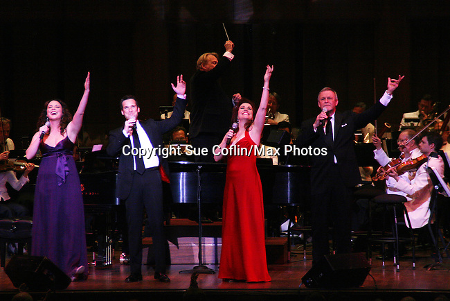 Melissa Errico, Hugh Panaro, Debbie Gravitte and Ron Raines perform Jerry Herman's Broadway with the National Symphony Orchestra at The John F. Kennedy Center for Performing Arts on March 14, 2009, in Washington D.C. (Photo by Sue Coflin/Max Photos)