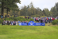 Georgia Hall of Team Europe on the 2nd tee during Day 2 Foursomes at the Solheim Cup 2019, Gleneagles Golf CLub, Auchterarder, Perthshire, Scotland. 14/09/2019.<br /> Picture Thos Caffrey / Golffile.ie<br /> <br /> All photo usage must carry mandatory copyright credit (© Golffile | Thos Caffrey)