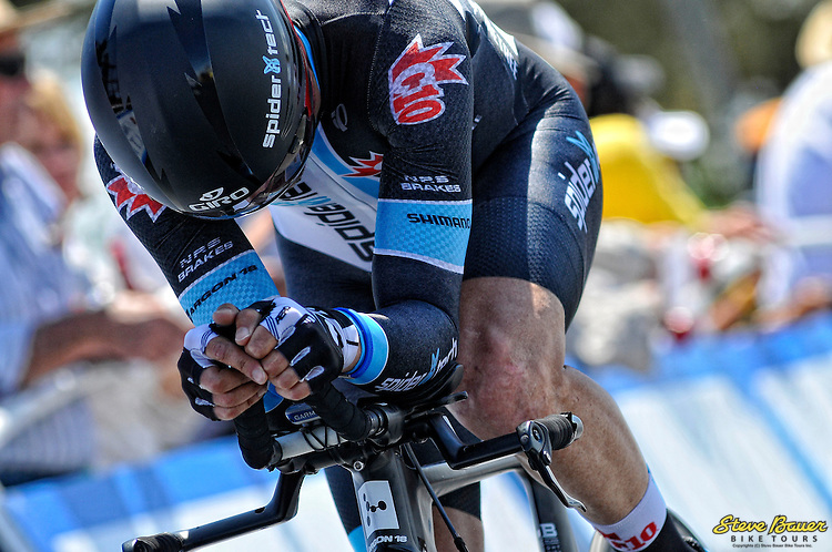Lucas Euser during the Stage 5 individual time trial at the Amgen Tour of California on May 17, 2012. Photo by Brian Hodes/Veloimages