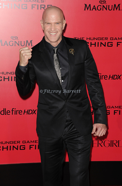 Bruno Gunn arriving to 'The Hunger Game Catching Fire Premiere', Los Angeles, Ca. November 18, 2013.