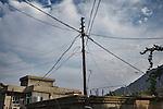 30/08/15. Shaqlawa, Iraq. -- The electric cables post in an old neighborhood of Shaqlawa.