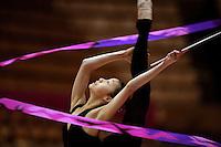 "Nerissa Mo of Canada (junior) trains ribbon routine at 2007 World Cup Kiev, ""Deriugina Cup"" in Kiev, Ukraine on March 15, 2007."