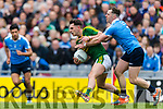 Jack Savage Kerry in action against Philly McMahon Dublin at the National League Final in Croke Park on Sunday.