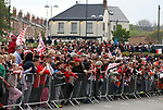 Crowds gather at Bramall Lane during the open top bus parade from Bramall Lane Stadium to Sheffield Town Hall, Sheffield. Picture date: May 2nd 2017. Pic credit should read: Simon Bellis/Sportimage