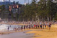 Kids on beach, Manly Beach, Sydney, New South Wales, Australia