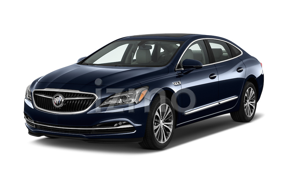 2017 Buick LaCrosse Essence 4 Door Sedan Angular Front stock photos of front three quarter view