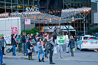 The protesters claim that Chicago based Heartland Alliance is profiting from the detention of immigrant children. The protest took place outside Swissotel on East Wacker Drive where Heartland Alliance was holding it's annual gala dinner.