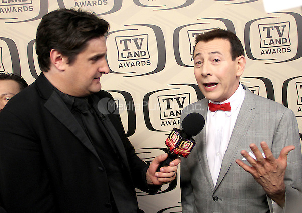 April 14, 2012 TV Land's Rob Shooter interviews Paul Reubens attends the 10th Anniversary of TV Land Awards  at the Lexington Avenue Armory in New York City..Credit:RWMediapunchinc.com