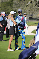Bill Murray and Kelly Rohrbach part of the 3M Celebrity Challenge during Wednesday's Pracitce Day of the 2018 AT&amp;T Pebble Beach Pro-Am, held over 3 courses Pebble Beach, Spyglass Hill and Monterey, California, USA. 7th February 2018.<br /> Picture: Eoin Clarke | Golffile<br /> <br /> <br /> All photos usage must carry mandatory copyright credit (&copy; Golffile | Eoin Clarke)