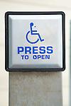 Disability access door button.  MR