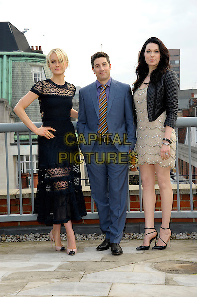 Taylor Schilling, Jason Biggs, Laura Prepon attend a photocall to launch season 2 of Netflix exclusive series 'Orange Is The New Black' at the Soho Hotel on May 29, 2014 in London, England. <br /> CAP/CJ<br /> &copy;Chris Joseph/Capital Pictures