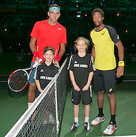 12-02-14, Netherlands,Rotterdam,Ahoy, ABNAMROWTT, Juan-Martin Del Potro and Gael Monfils(FRA)<br /> Photo:Tennisimages/Henk Koster
