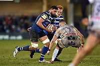 Elliott Stooke of Bath Rugby in possession. Premiership Rugby Cup match, between Bath Rugby and Gloucester Rugby on February 3, 2019 at the Recreation Ground in Bath, England. Photo by: Patrick Khachfe / Onside Images