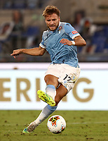 Football, Serie A: S.S. Lazio - Brescia, Olympic stadium, Rome, July 29, 2020. <br /> Lazio's Ciro Immobile scores during the Italian Serie A football match between S.S. Lazio and Brescia at Rome's Olympic stadium, Rome, on July 29, 2020. <br /> UPDATE IMAGES PRESS/Isabella Bonotto