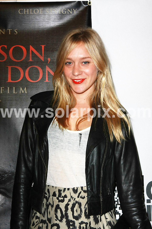 **ALL ROUND PICTURES FROM SOLARPIX.COM**.**SYNDICATION RIGHTS FOR UK, AUSTRALIA, DENMARK, PORTUGAL, S. AFRICA, SPAIN & DUBAI (U.A.E) ONLY**.Chloe Sevigny arrives for the Los Angeles premiere of  My Son, My Son What Have Ye Done. Held at the Downtown Independent, Los Angeles, CA, USA. 19 December 2009.This pic: Chloe Sevigny..JOB REF:10424 PHZ Boddi   DATE: 19_12_2009.**MUST CREDIT SOLARPIX.COM OR DOUBLE FEE WILL BE CHARGED**.**MUST NOTIFY SOLARPIX OF ONLINE USAGE**.**CALL US ON: +34 952 811 768 or LOW RATE FROM UK 0844 617 7637**