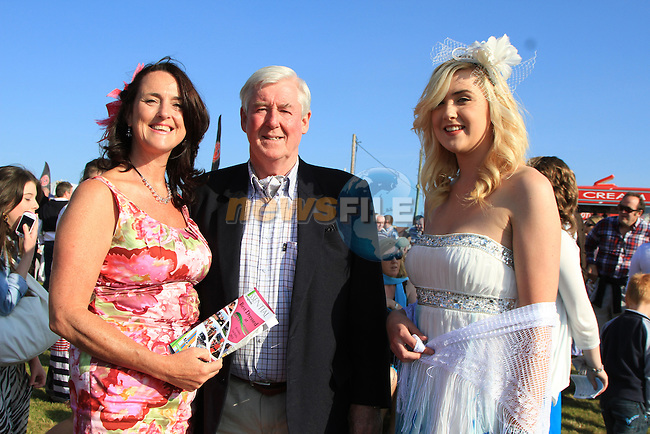 Caroline Kavanagh, Patrick McCloskey and Maeve Kavanagh at the Bellewstown Races 2011...(Photo credit should read Jenny Matthews www.newsfile.ie)....This Picture has been sent you under the conditions enclosed by:.Newsfile Ltd..The Studio,.Millmount Abbey,.Drogheda,.Co Meath..Ireland..Tel: +353(0)41-9871240.Fax: +353(0)41-9871260.GSM: +353(0)86-2500958.email: pictures@newsfile.ie.www.newsfile.ie.