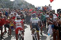 Alberto Contador and Joaquin Purito Rodriguez (l) surrounded of supporters during the stage of La Vuelta 2012 between La Robla and Lagos de Covadonga.September 2,2012. (ALTERPHOTOS/Paola Otero) /NortePhoto.com<br /> <br /> **CREDITO*OBLIGATORIO** <br /> *No*Venta*A*Terceros*<br /> *No*Sale*So*third*<br /> *** No*Se*Permite*Hacer*Archivo**<br /> *No*Sale*So*third*