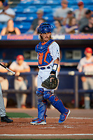 St. Lucie Mets catcher Nick Meyer (26) during a Florida State League game against the Florida Fire Frogs on April 12, 2019 at First Data Field in St. Lucie, Florida.  Florida defeated St. Lucie 10-7.  (Mike Janes/Four Seam Images)