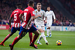 Atletico de Madrid Thomas Teye and Real Madrid Toni Kroos during La Liga match between Atletico de Madrid and Real Madrid at Wanda Metropolitano in Madrid, Spain. November 18, 2017. (ALTERPHOTOS/Borja B.Hojas)