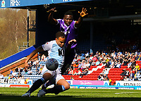 Blackburn Rovers' Elliott Bennett battles with Stoke City's Oghenekaro Etebo<br /> <br /> Photographer Alex Dodd/CameraSport<br /> <br /> The EFL Sky Bet Championship - Blackburn Rovers v Stoke City - Saturday 6th April 2019 - Ewood Park - Blackburn<br /> <br /> World Copyright © 2019 CameraSport. All rights reserved. 43 Linden Ave. Countesthorpe. Leicester. England. LE8 5PG - Tel: +44 (0) 116 277 4147 - admin@camerasport.com - www.camerasport.com