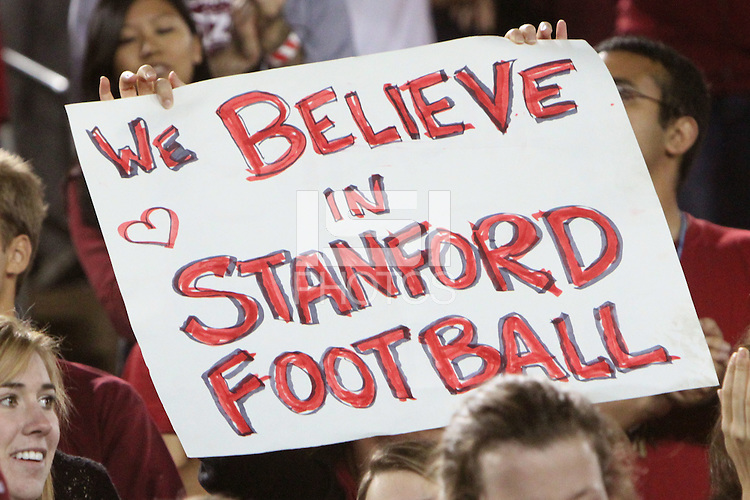 STANFORD, CA - OCTOBER 24:  Fans in the student Red Zone during Stanford's 33-14 win over ASU on October 24, 2009 at Stanford Stadium in Stanford, California.