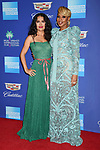 PALM SPRINGS, CA - JANUARY 02: Actress Salma Hayek (L) and actress/singer/songwriter Mary J. Blige arrive at the 29th Annual Palm Springs International Film Festival Film Awards Gala at Palm Springs Convention Center on January 2, 2018 in Palm Springs, California.