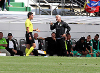 IPIALES - COLOMBIA, 27-02-2019: Humberto Sierra, técnico de La Equidad, durante partido entre Deportivo Pasto y La Equidad, de la fecha 7 por la Liga Aguila I 2019, jugado en el estadio Municipal de Ipiales de la ciudad de Ipiales / Humberto Sierra, coach of La Equidad, during a match between Deportivo Pasto and La Equidad, of the 7th date for the Aguila Leguaje I 2019 at the Municipal de Ipiales stadium in Ipiales city. Photo: VizzorImage. / Leonardo Castro / Cont.