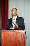 NEW YORK - MAY 22:  Senator Barack Obama fundraises, talks about his recent book, Dreams from My Father: A Story of Race and Inheritance, and speaks to fellow democrats May 22, 2006 in New York City. (Photo by Donald Bowers)