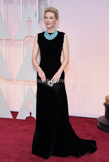 WWW.ACEPIXS.COM<br /> <br /> February 22 2015, Los Angeles Ca.<br /> <br /> Actress Cate Blanchett arriving at the 87 th Annual Academy Awards at the Hollywood and Highland center on February 22 2015 in Hollywood CA.<br /> <br /> <br /> Please byline: Z15/ACE Pictures<br /> <br /> ACE Pictures, Inc.<br /> www.acepixs.com<br /> Email: info@acepixs.com<br /> Tel: 646 769 0430