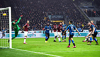 9th February 2020, Milan, Italy; Serie A football, AC Milan versus Inter-Milan; The goal scored by Stefan De Vrij  for 3-2