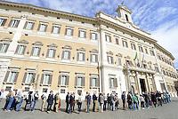 Roma, 29 Settembre 2015<br /> Camera ardente a Montecitorio per Pietro Ingrao.<br /> Fila per entrare