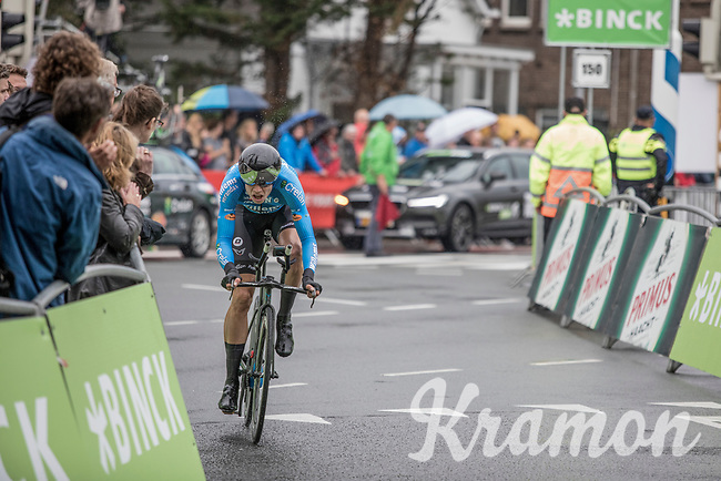Wout Van Aert (BEL/Veranda's Willems - Crelan) during his time trial (where he will finish 14th).<br /> <br /> Binckbank Tour 2017 (UCI World Tour)<br /> Stage 2: ITT Voorburg (NL) 9km