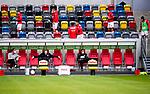nph00351:  Fussball, 1. Bundesliga, Saison 19/20, 26. Spieltag, Fortuna Düsseldorf - FC Paderborn 07, 16.05.2020: Die Auswechselspieler der Fortuna Düsseldorf nehmen auf den Zuschauerrängen Platz vor dem Spiel.<br /> <br /> Foto: Moritz Müller/Pool /Verbreitung via Meuter/nordphoto<br /> <br /> Nur für journalistische Zwecke! Only for editorial use!<br /> <br /> Gemäß den Vorgaben der DFL Deutsche Fußball Liga ist es untersagt, in dem Stadion und/oder vom Spiel angefertigte Fotoaufnahmen in Form von Sequenzbildern und/oder videoähnlichen Fotostrecken zu verwerten bzw. verwerten zu lassen. DFL regulations prohibit any use of photographs as image sequences and/or quasi-video.