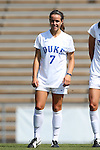 23 August 2015: Duke's Taylor Racioppi. The Duke University Blue Devils played the Weber State University Wildcats at Fetzer Field in Chapel Hill, NC in a 2015 NCAA Division I Women's Soccer game. Duke won the game 4-0.
