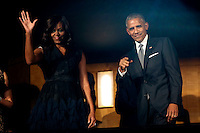 US President Barack Obama and First Lady Michelle Obama attend a performance at the Kennedy Center called &quot;Taking the Stage; African American Music and Stories that Changed America,&quot;  an event celebrating the opening of the Smithsonian National Museum of African American History and Culture, September 23, 2016, Washington, DC. <br /> Credit: Aude Guerrucci / Pool via CNP /MediaPunch