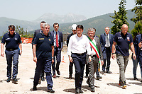 Giuseppe Conte<br /> Roma 11/06/2018. Il neo nominato Premier visita le zone colpite dal terremoto del 2016.<br /> Rome 11th of June. The Italian Premier visits the villages hit by the 2016 earthquake.<br /> Foto Samantha Zucchi Insidefoto