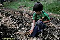 HS05-014b   Potato - child planting potatoes
