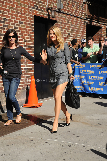 WWW.ACEPIXS.COM . . . . .....August 28, 2008. New York City....Actress Blake Lively arrives a taping for 'The Late Show with David Letterman' at the Ed Sullivan Theater on August 28, 2008 in New York City...  ....Please byline: Kristin Callahan - ACEPIXS.COM..... *** ***..Ace Pictures, Inc:  ..Philip Vaughan (646) 769 0430..e-mail: info@acepixs.com..web: http://www.acepixs.com