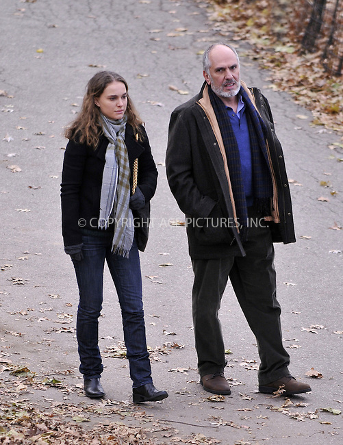 WWW.ACEPIXS.COM . . . . .  ....December 5 2008, New York City....Actress Natalie Portman shoots a scene with another cast member for the movie 'Love and other impossible pursuits' in Riverside Park on December 5 2008 in New York City....Please byline: AJ Sokalner - ACEPIXS.COM..... *** ***..Ace Pictures, Inc:  ..tel: 212 243 8787..e-mail: info@acepixs.com..web: http://www.acepixs.com