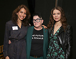 Sarah Stern, Lea DeLaria and Rebeca Robles  during the Vineyard Theatre's Emerging Artists Luncheon honoring Charly Evon Simpson with the Paula Vogel Playwriting Award at the National Arts Club on November 25, 2019 in New York City.